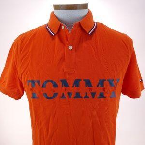Tommy Hilfiger Men's Orange Custom Fit Size M NWT